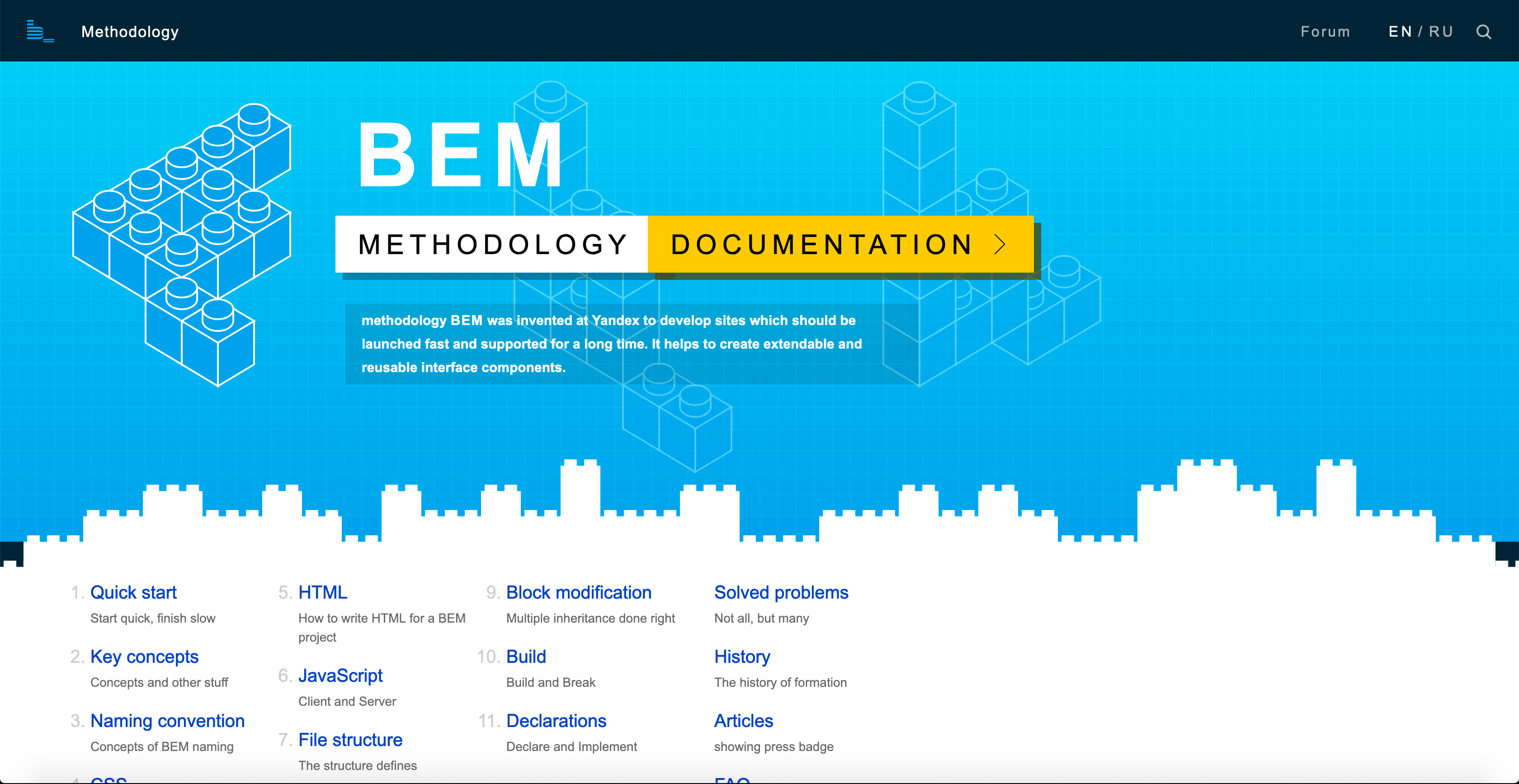 image of the BEM landing page